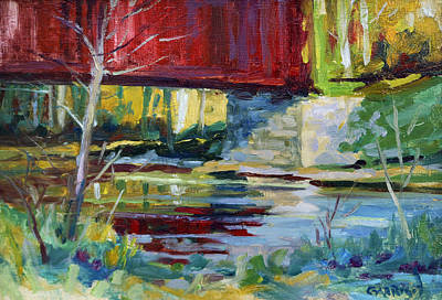 Covered Bridge Painting - Covered Bridge by David Garrison