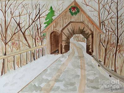 Painting - Covered Bridge by Denise Tomasura