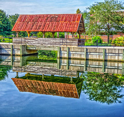 Covered Bridge Art Print by Dennis Dugan