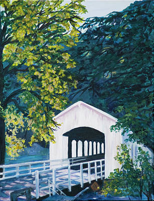 Painting - Covered Bridge by Donna Drake