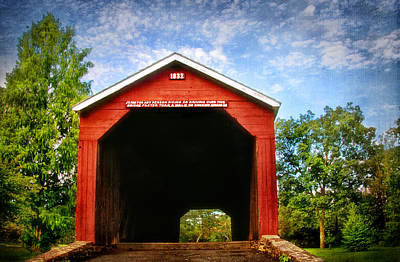 Photograph - Covered Bridge Entrance by Carolyn Derstine