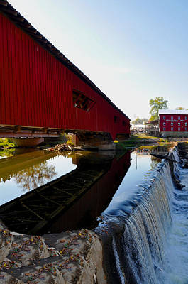 Covered Bridge Festival Art Print by Brittany H