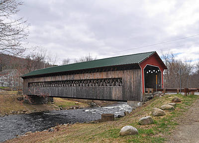 Photograph - Covered Bridge - Gilbertville Massachusetts by John Black