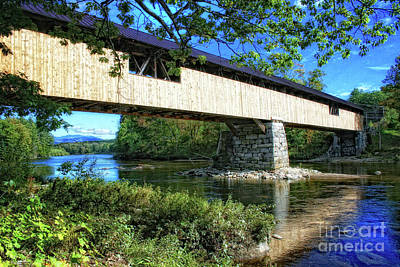 Photograph - Covered Bridge by Gina Cormier