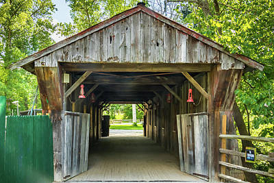 Photograph - Covered Bridge Hdr by Ronald Hoehn