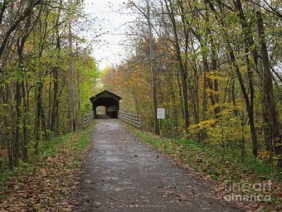 Photograph - Covered Bridge In Amish Country by Kathie Chicoine