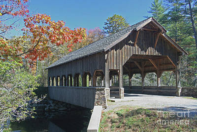 Photograph - Covered Bridge In Autumn by Kevin McCarthy