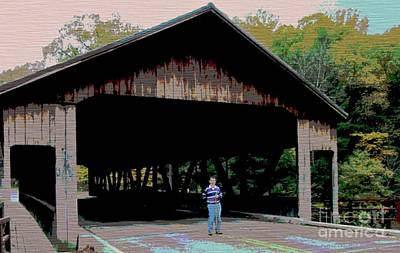 Photograph - Covered Bridge In Holmes County by Kathie Chicoine