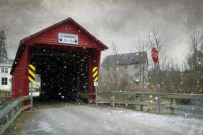 Photograph - Covered Bridge In Logan Mills by Stephanie Calhoun