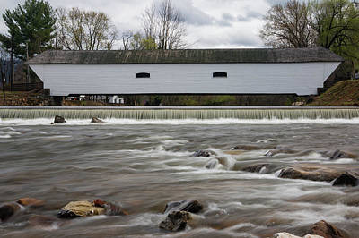Photograph - Covered Bridge In March by Jeff Severson