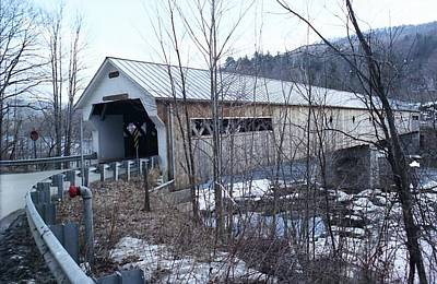 Covered Bridge In Southern Vermont Art Print by John Power