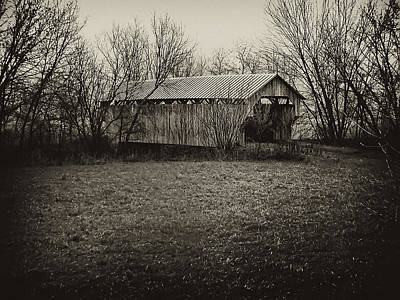 Covered Bridge In Upstate New York Art Print by Bill Cannon