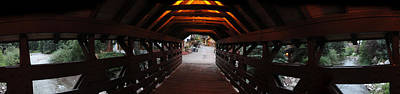Photograph - Covered Bridge In Vail Colorado Panorama by Jeff Schomay
