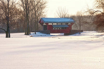 Photograph - Covered Bridge In Winter by David Arment
