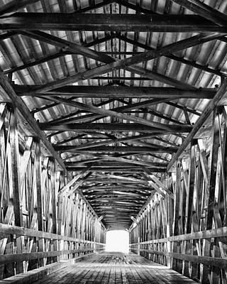 Lodes Photograph - Covered Bridge Interior Knights Ferry Ca by Troy Montemayor
