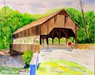 Painting - Covered Bridge by Joe Hagarty