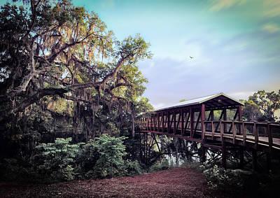 Florida Bridge Photograph - Covered Bridge by Kathryn  Stivers