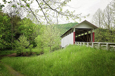 Photograph - Covered Bridge by Kelley Nelson