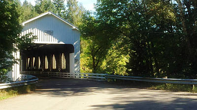 Photograph - Covered Bridge Late Afternoon by Katie Wing Vigil