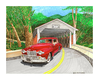 Painting - Covered Bridge Lincoln by Jack Pumphrey