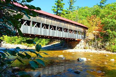 Photograph - Covered Bridge by Lucia Vicari