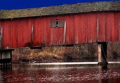 Covered Bridge Art Print by Michael L Kimble