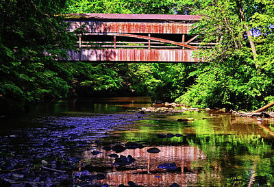 Photograph - Covered Bridge - Mill Creek Park 004 by George Bostian