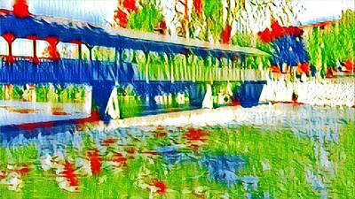 Photograph - Covered Bridge Mm2 by Daniel Thompson
