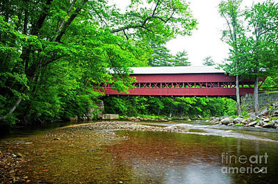 Photograph - Covered Bridge Nh by Alana Ranney