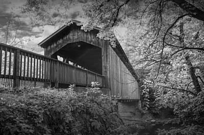 Covered Bridge On The Thornapple River Art Print by Randall Nyhof