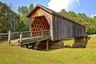 Photograph - Covered Bridge Over Auchumpkee Creek by Gordon Elwell