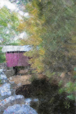 Painting - Roddy Road Covered Bridge by Mal-Z