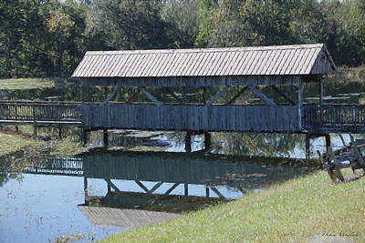 Photograph - Covered Bridge Painting by Debra     Vatalaro