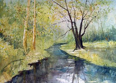 Impressionism Paintings - Covered Bridge Park by Ryan Radke