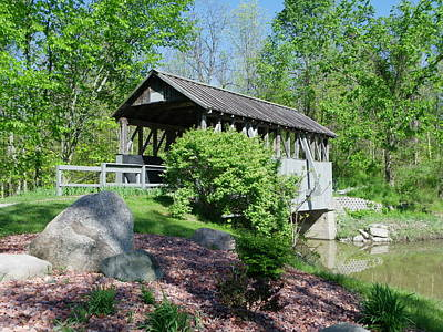 Photograph - Covered Bridge  by Peggy King