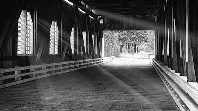 Photograph - Covered Bridge Radiance by Katie Wing Vigil