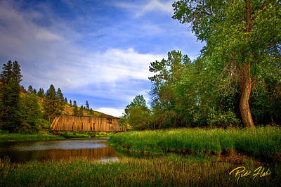 Photograph - Covered Bridge by Rikk Flohr
