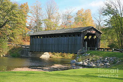 Covered Bridge Art Print by Robert Pearson