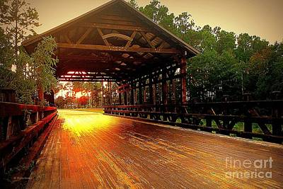 Photograph - Covered Bridge by Shelia Kempf