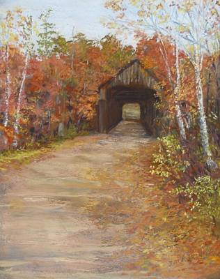 Painting - Covered Bridge  Southern Nh by Jack Skinner