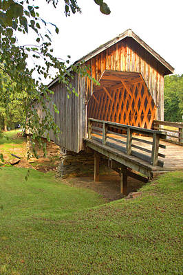 Photograph - Covered Bridge Spans Auchumpkee Creek by Gordon Elwell