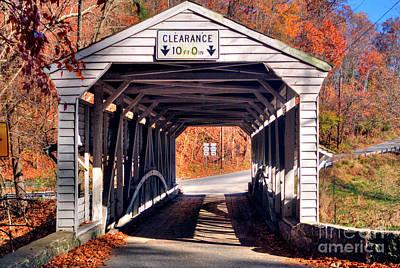 Photograph - Covered Bridge Valley Forge Pa by David Zanzinger