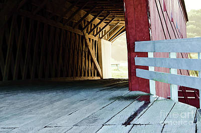 Photograph - Covered Bridge, Winterset, Iowa by Wilma Birdwell