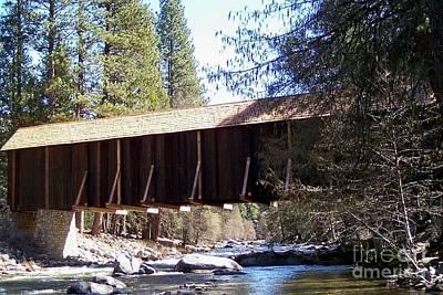 Covered Bridge Yosemite Art Print by Marjorie Imbeau