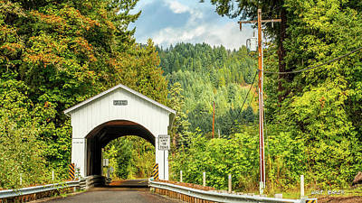 Photograph - Covered Bridges Of Oregon by Walt Baker