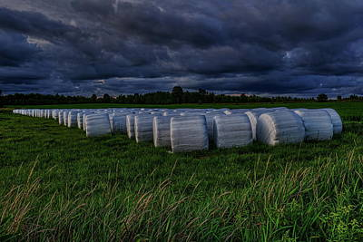 Photograph - Covered Hay Bales by Dale Kauzlaric
