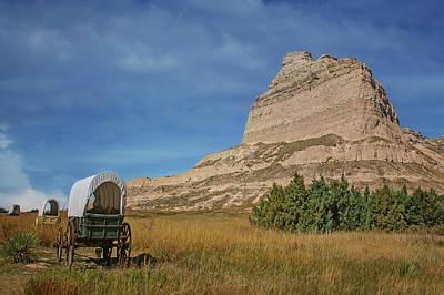 Photograph - Covered Wagons - Scotts Bluff - Nebraska by Nikolyn McDonald