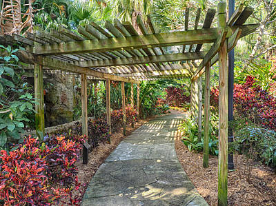 Photograph - Covered Walkway At Sunken Gardens by C H Apperson