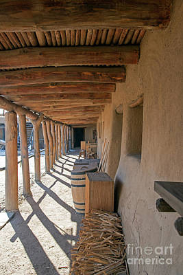 Photograph - Covered Walkway In Bents Old Fort by Fred Stearns