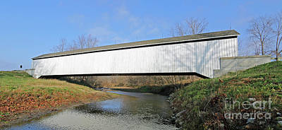 Indiana Covered Bridge Side Art Print by Steve Gass
